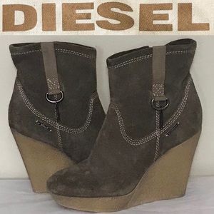 Diesel Jessy Wedge Ankle Boots